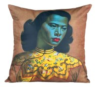 What about 50s retro kitsch with these Vladimir Tretchikoff cushions | via http://shop.vladimirtretchikoff.com/cushions/