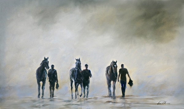 """Morning Training With The Grooms"" by Gavin Collins"
