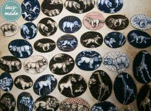 Lucy-Made Ceramic Animal Brooches | via www.lucystuartclark.com