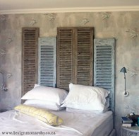 Decor Quick Tip - Shutter Headboard - Design Monarchy
