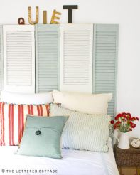 Decor Quick Tip - Shutters As Headboards - The Lettered Cottage