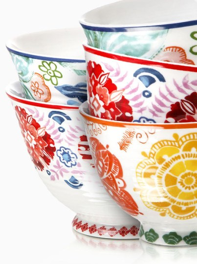 Add a bit of Spring joy to your table with these gorgeous porcelain rice bowls accented with bright and colourful floral patterns from Woolworths - priced at R140.00 each. | via http://www.woolworths.co.za/store/fragments/product-details/product-details-index.jsp?productId=502518682
