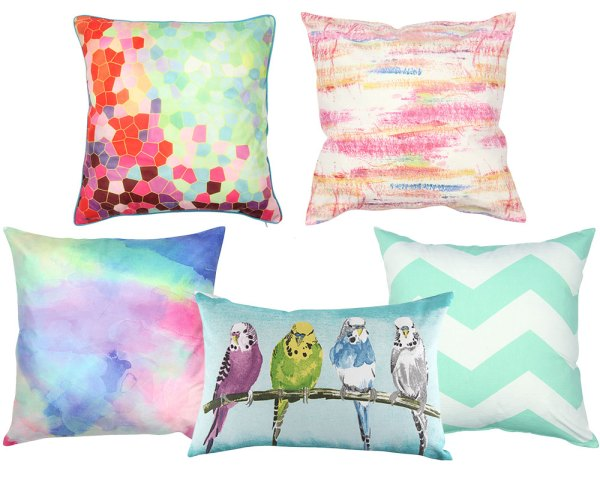 These gorgeous colourful scatter cushions from Mr. Price Home has got me weak at the knees! The bright and fresh colour palette of these beauties will be the perfect Spring-inspired injection for you home. Don't you just LOVE the budgies pillow?! AND at just R119.99 each I might end up buying them ALL! | via http://www.mrphome.com/en_za/jump/HOMEWARE/CLOUD-WASH-50X50CM-SCATTER-CUSHION/productDetail/2_6102067123/cat860009/general