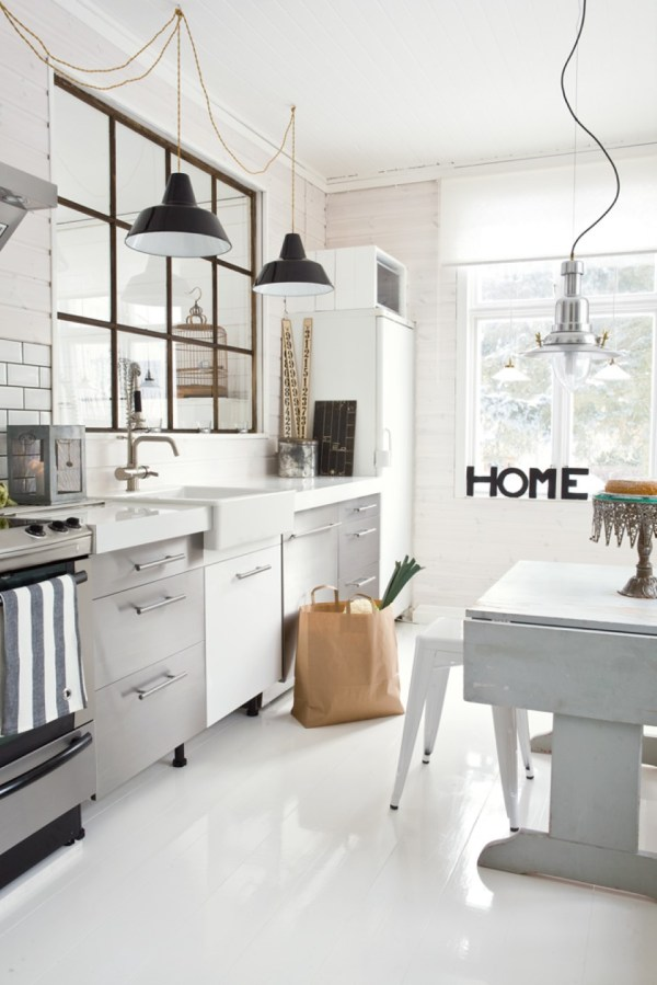 https://www.duckdo.com/industrial-style-kitchens-displaying-astonishing-and-durable-materials/industrial-kitchen-pendant-lighting-feat-stainless-steel-cabinets-design-and-white-metal-stools/