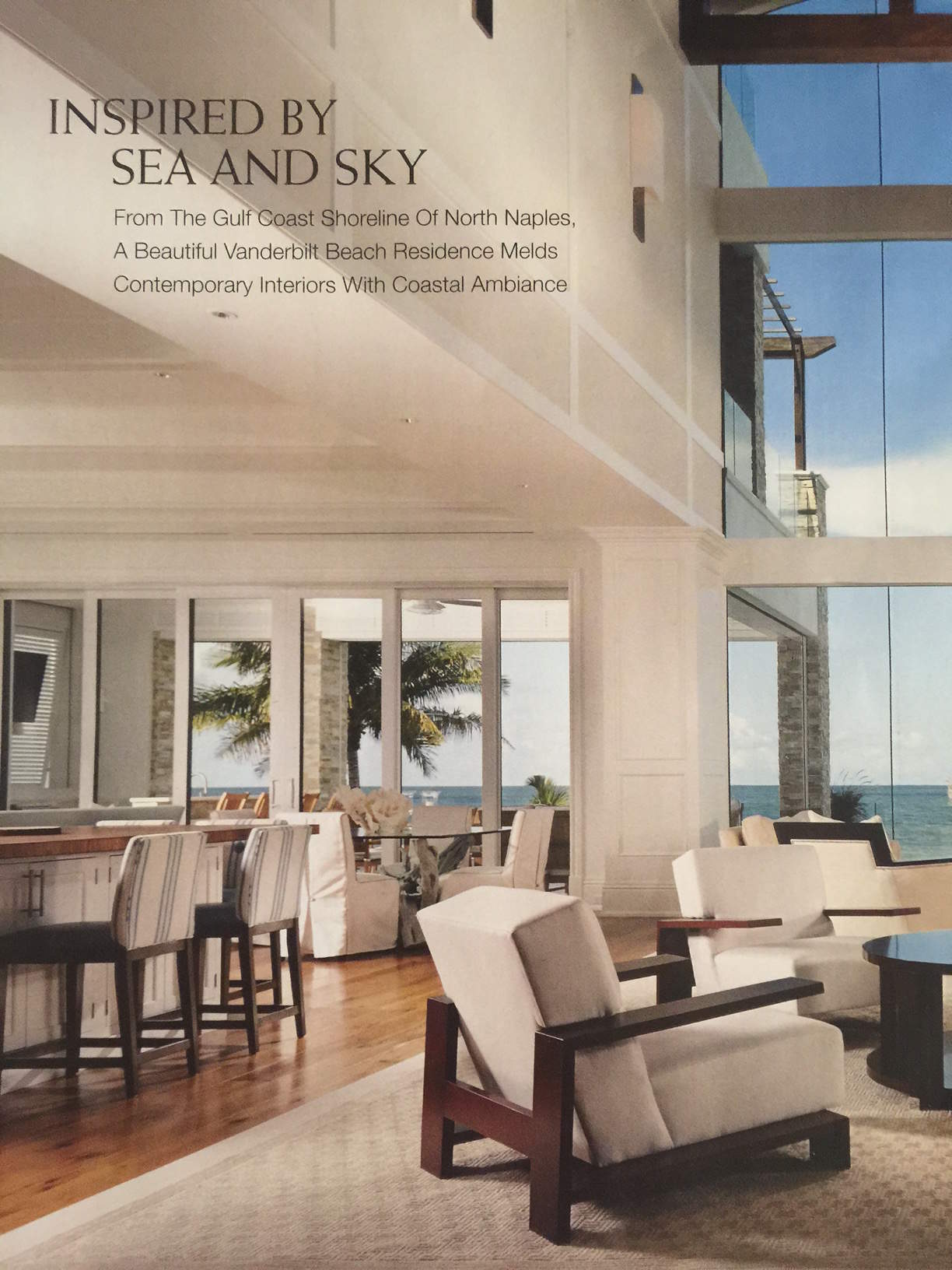 Inspired By Sea U0026 Sky, Article In Florida Design Magazine