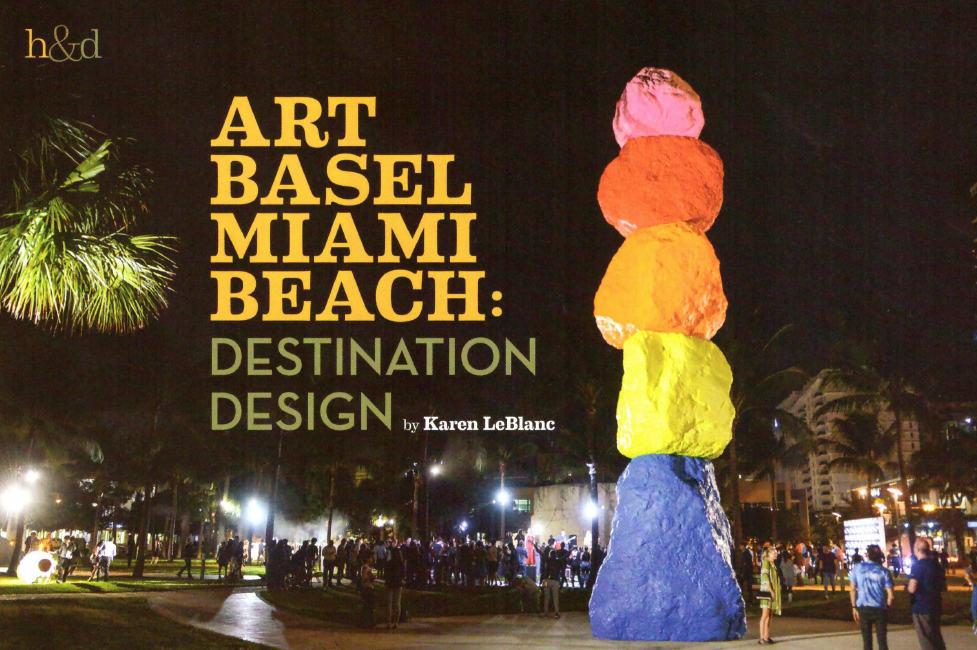 Art Basel Miami Beach Article written by Karen LeBlanc for Orange Appeal Magazine