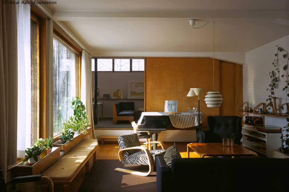 Interior of Modernist Architect Alvar Aalto's personal home in Helsinki open for public tours. For more design travel destinations, subscribe to the channel at youtube.com/TheDesignTourist