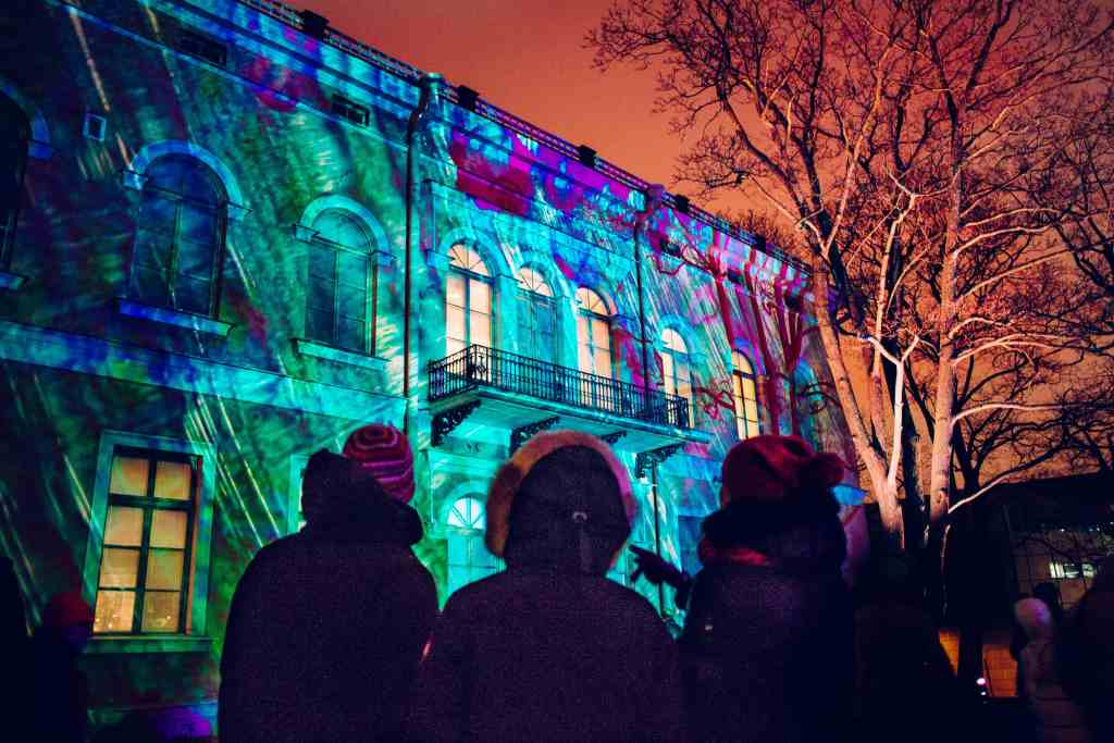 The Lux Helsinki Light Festival held in January illuminates the cityscape. For more design travel destinations, subscribe to the channel at youtube.com/TheDesignTourist