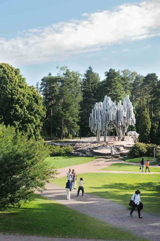 Sibelius Park is one of the many green spaces that blanket Helsinki. For more design travel ideas, subscribe to the channel at youtube.com/TheDesignTourist