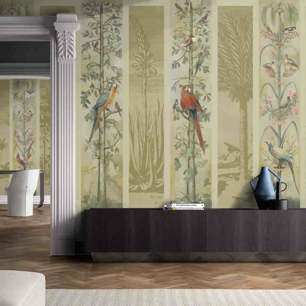 Tropicalia wallpaper design from the Palingenes Collection, Skinwall