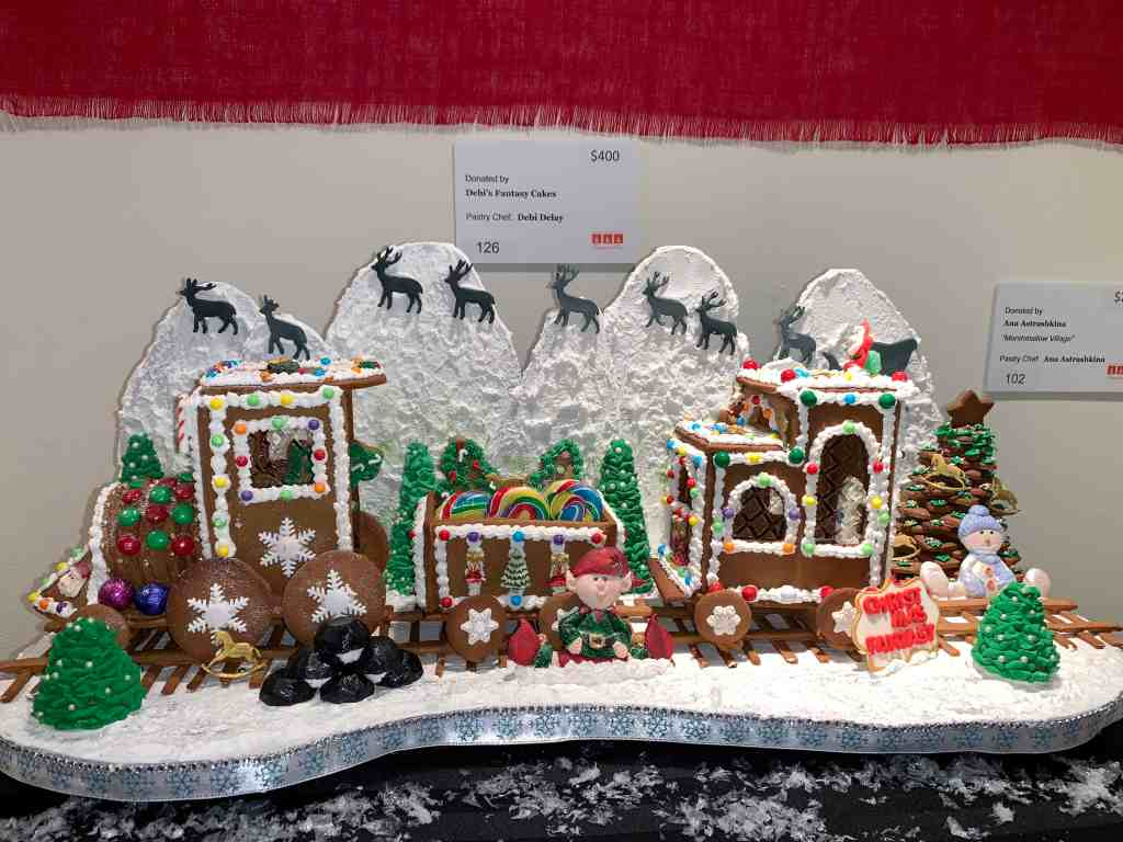 Designer Gingerbread Art at Orlando Museum of Art event, Festival of Trees.