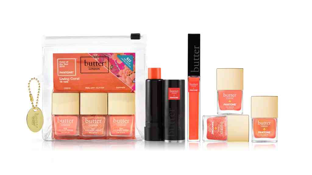Cosmetics in Pantone's Color of the Year 2019 Living Coral by Butter London