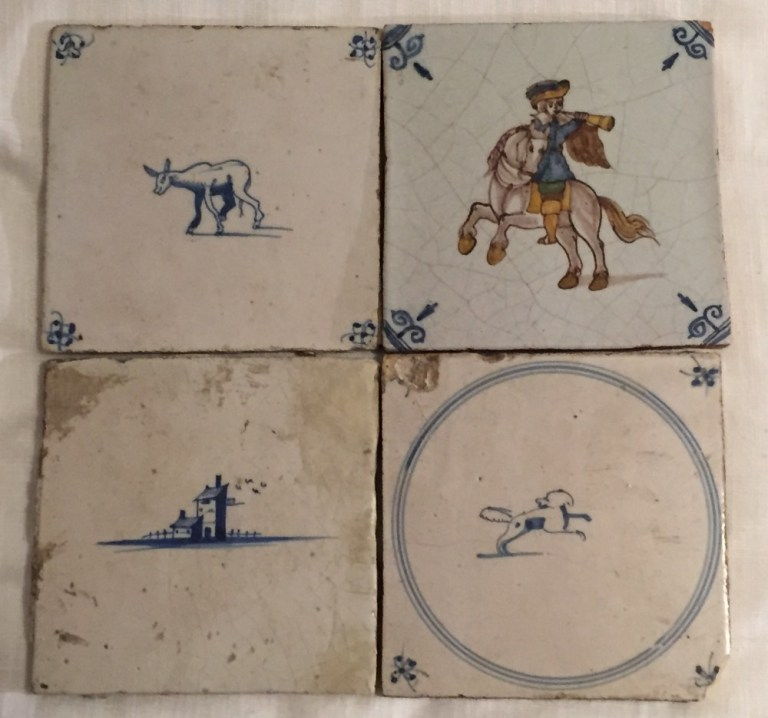 Bought in Delft, these tiles are from the 17th Century. Photo: Penny Craswell