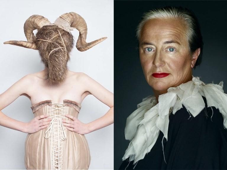 Left: an image from Fetishism in Fashion exhibition, Right: Li Edelkoort