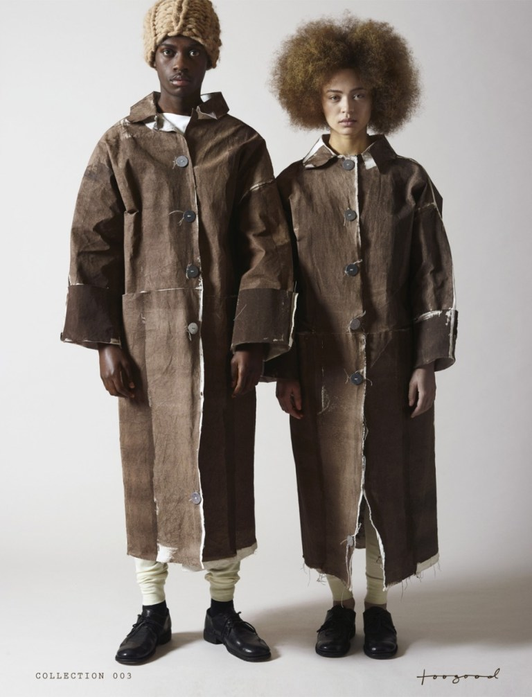Unisex coats as part of Collection 003 by Faye and Erica Toogood. Photo: supplied