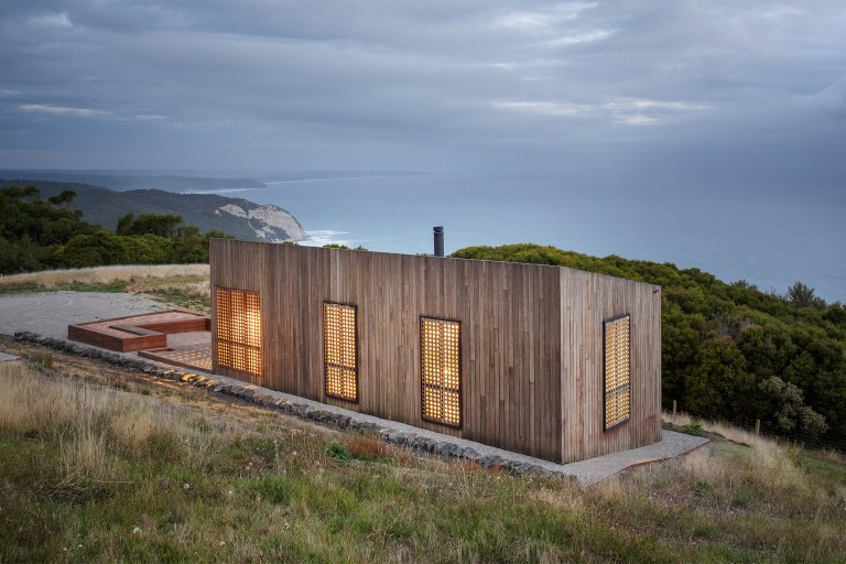Small footprint living at the Moonlight Cabin by JCB. Photo: Jeremy Weihrauch of Gollings Studio