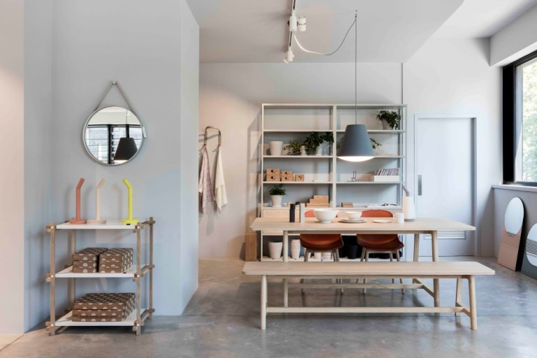 Upstairs dining and shelving, HAY Sydney store
