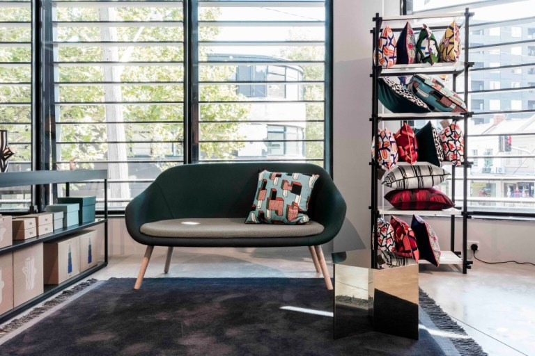 Soft seating by the window, HAY Sydney store