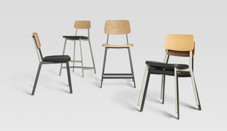 Sprint chair and stool by Sean Dix for Zenith. Image: supplied