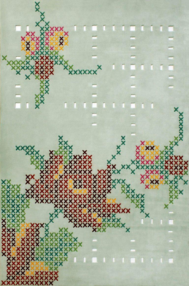 High Tea rug designed by Petrina Turner for Designer Rugs. The Design Writer blog.