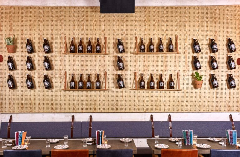 Beer bottle composition at Little Creatures Hong Kong by Charlie & Rose. Image: supplied