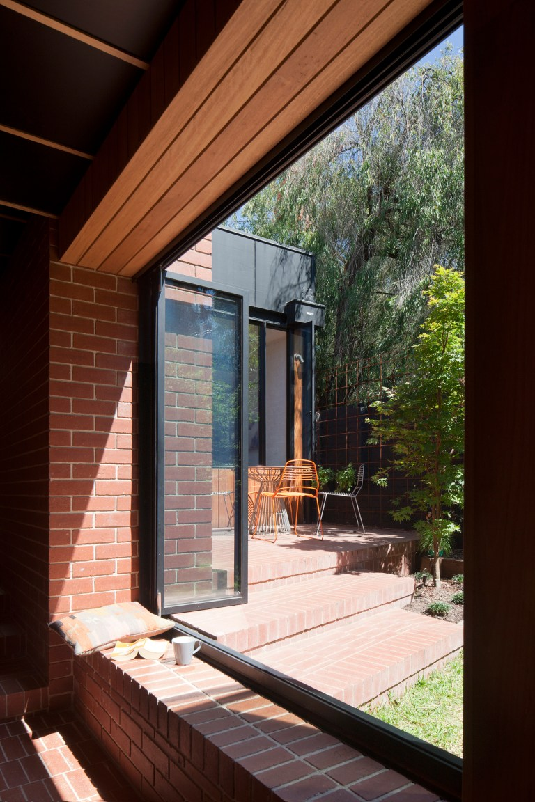 View from cloister to garden, Carlton Cloister House by MRTN Architects. Photo: Shannon McGrath The Design Writer blog