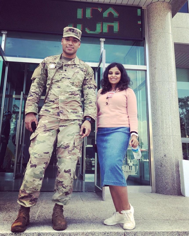 US soldier at Panmunjeom