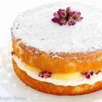 Lemon & Rosewater Sponge Cake