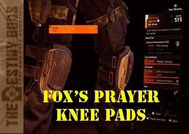 fox's prayer knee pads