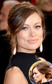 OLIVIA WILDE -- Nude lip was the lip color of the night, loved this one on Olivia!