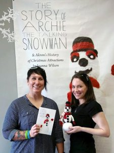 Author Joanna Wilson and artist Samantha Hudson at the book launch this summer.