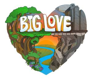 Big Love logo by Michael Marras