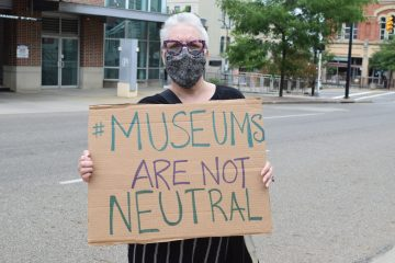 Akron Art Museum protest