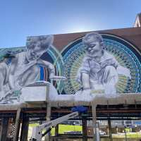 Muralists use life and art to help revitalize downtown parks