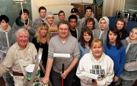South Devon College students and Cllr David Cox