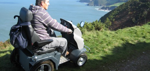 Tramper mobility scooter on the South West Coast Path by Countryside Mobility South West.