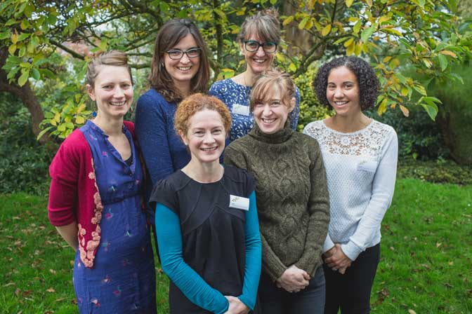 The team at THG (L to R – Jess Huffman, Emma Molony, Angela Blackwell, Fiona Page-Turner, Anna Aroussi, Gemma Girvan. Courtesy of Helen Lisk Photography