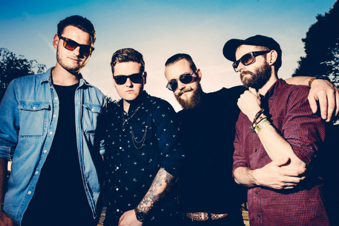 Broken Witt Rebels (L-R): James Tranter (guitar), Danny Core (vocals, guitar), Luke Davis (bass), James Dudley (drums). Photo by Rob Blackham