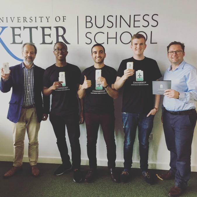 Left to right David Solomides (investor), Hakeem Buge, Chris Aoun, Hugo Tilmouth, Joe Pearce (investor)