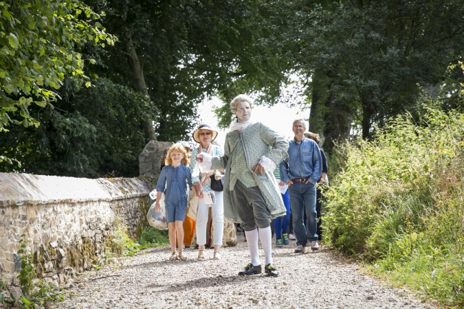 Original wall commissioner Champernowne played by Natural Theatre Company at Dartington Deer Park launch. Courtesy of Rebecca Clelland