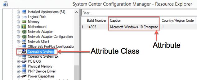 ConfigMgr Hardware Inventory Windows 10