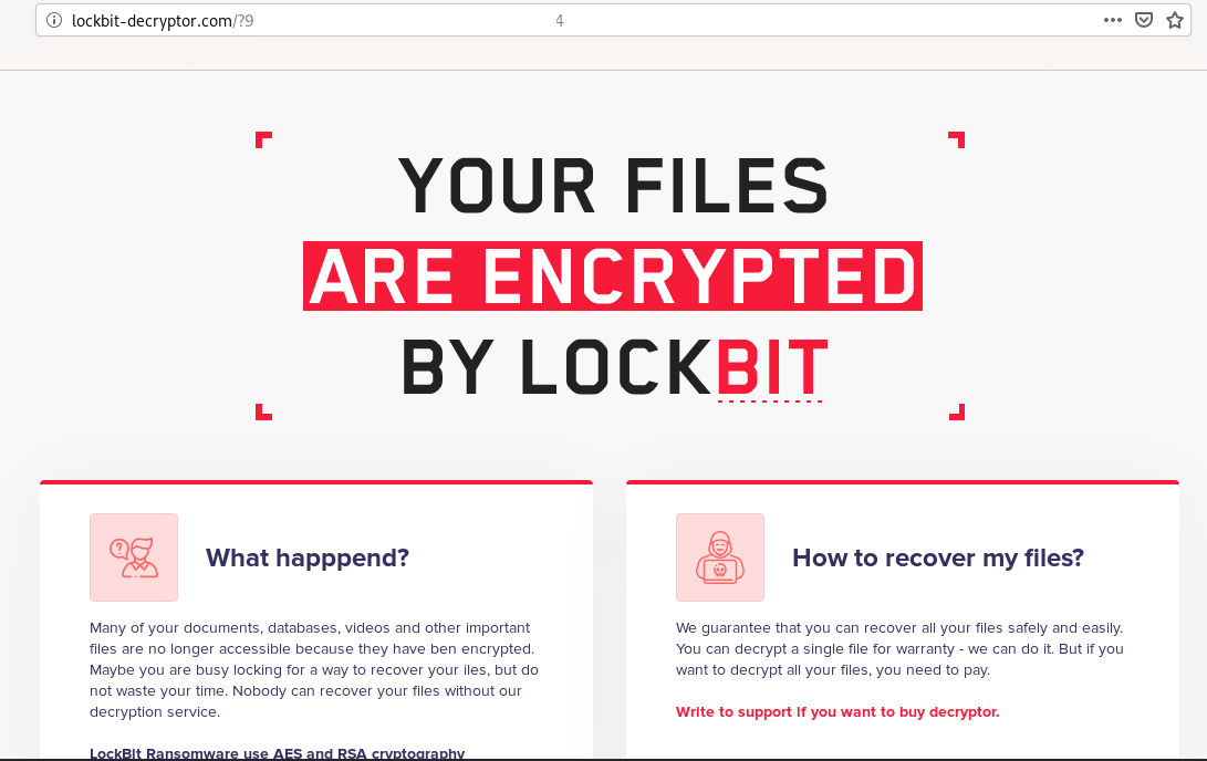 Lockbit Ransomware, Why You No Spread?