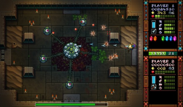 iron fisticle, humble bundle, pc steam games, retro twin stick shooter,