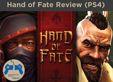 hand of fate review, defiant development, strategy card game, 3d arena battle game, playstation 4, indie games, game reviews, gaming podcast,