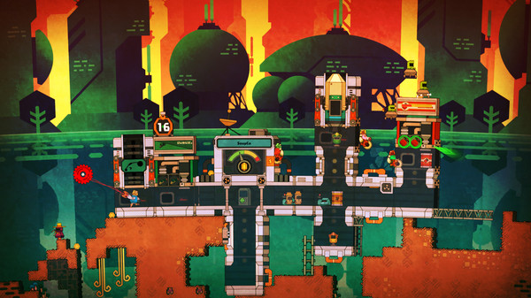 nom nom galaxy, pixel junk shooter, pixel junk: nom nom, steam pc, pc game review