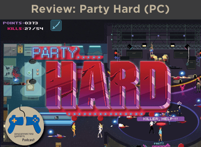 party hard game, party hard 8 bit, steam game, tinybuild games, pinokl developer, hotline miami, single screen slasher,