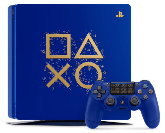 ps4 slim, 1tb playstation 4, new playstation 4 console, days of play 2018, blue ps4 slim,