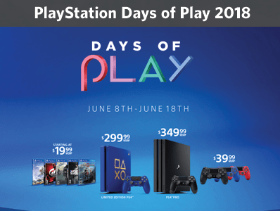 playstation days of play 2018, psn june deals, gaming deals,