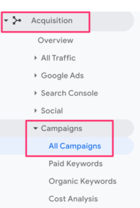 Black Friday campaigns in Google Analytics