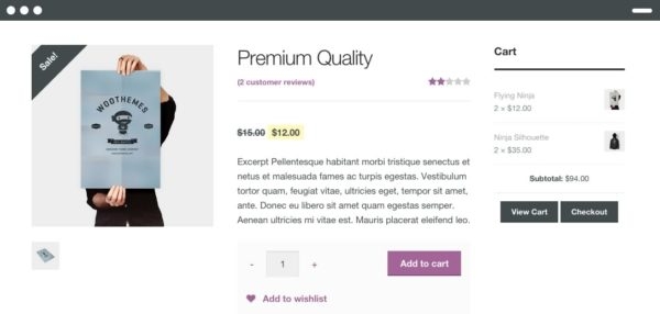 an example of a WooCommerce theme to illustrate why you need to tweak it for shop usability